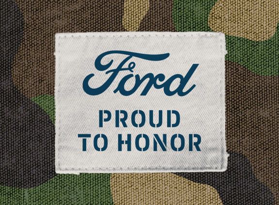 Ford Proud to Honor logo.